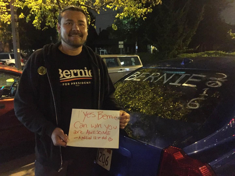Photo of David Bernie can win sign